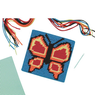 BUTTERFLY NEEDLEPOINT CRAFT KIT PK/12