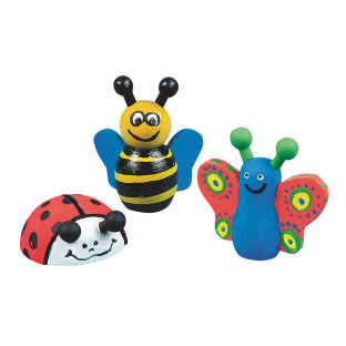 Wooden Bee, Butterfly and Ladybug Craft Kit
