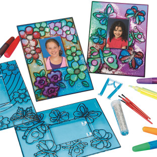 FLOWER BUTTERFLIES SUNCATCHER KIT PK/12