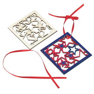 Stars Wood Coaster Craft Kit