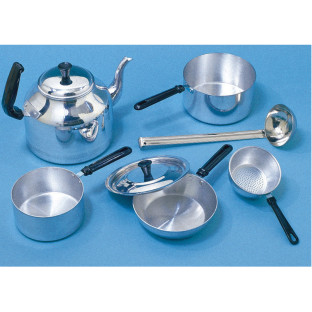 Child-Sized Aluminum Cooking Set