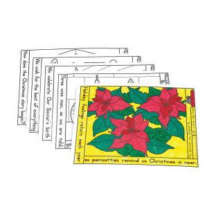 Coloring Placemats - Christmas