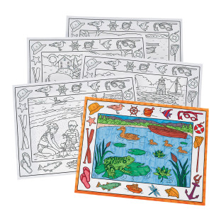 Coloring Placemats, On the Water