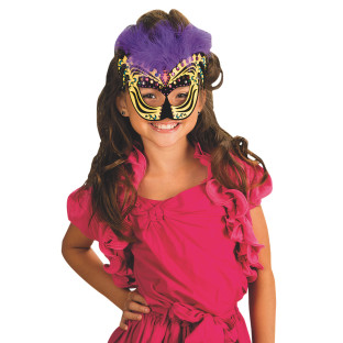 Festive Velvet Art Masks Craft Kit