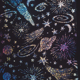 Holographic Sparkle Soft-Scratch Glitter Board, 8-1/2