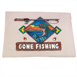 GONE FISHING MAT
