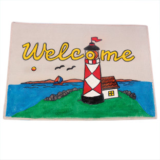 WELCOME LIGHTHOUSE MAT