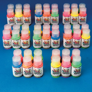 1-oz. Color Splash!® Fluorescent Acrylic Paint Pass Around Pack