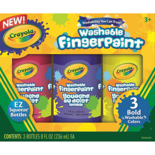 CRAYOLA WASHABLE FINGER PAINTS BOLD SET 3
