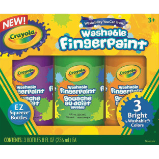 CRAYOLA WASHABLE FINGER PAINTS BRIGHTS SET 3