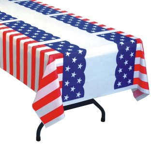 Patriotic Pleated Table Cover