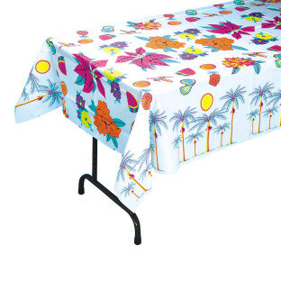 Luau Floral Table Cover, 54