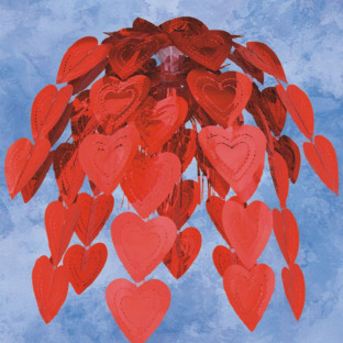 24 IN RED HEARTS CASCADE