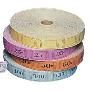 Single Roll Tickets - 25 Cents