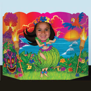 Luau Girl Photo Prop