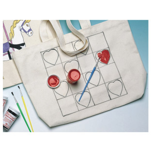 TOTE BAG PREPRINTED HEARTS