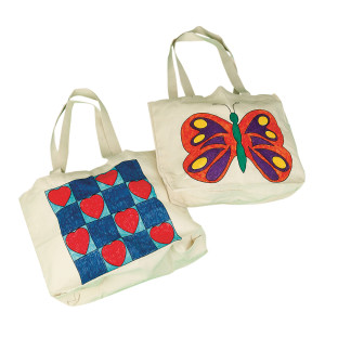 TOTE BAG PREPRINTED BUTTERFLY