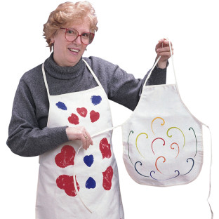 COLOR-ME APRON ADULT CANVAS 28IN X22IN