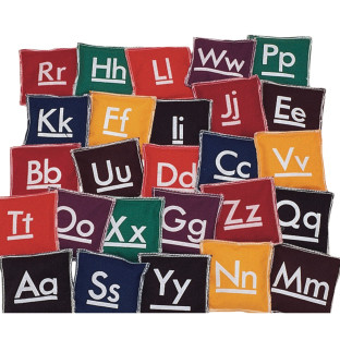 Square Alphabet Beanbags