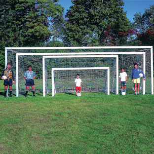 Club Soccer Goals, 7'H x 21'W, pair