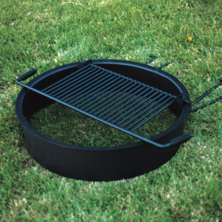 Steel Fire Ring with Cooking Grate