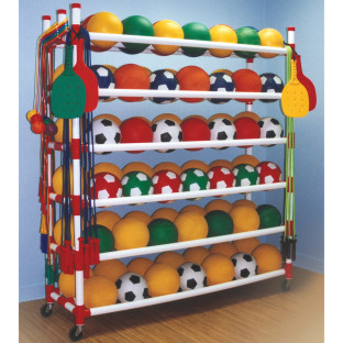 Large Capacity Ball Storage Cart