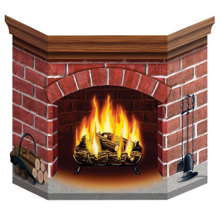 Stand-Up Paper Fireplace
