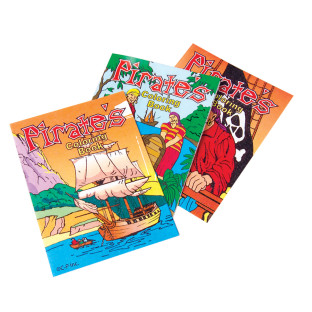 Mini Pirate Coloring Books