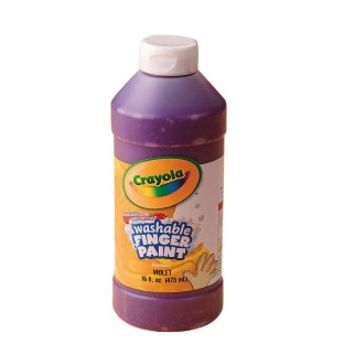 CRAYOLA WASHABLE FINGER PAINT 16 OZ VI