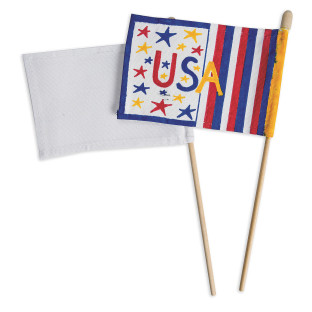 Color-Me™ Blank Flags and Dowels