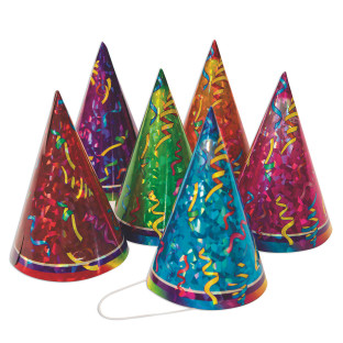 Prismatic Birthday Party Hats
