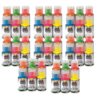1-oz. Color Splash!® Neon Acrylic Paint Pass Around Pack