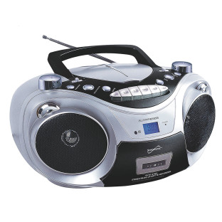 Supersonic® Portable Bluetooth Audio System with Cd and Cassette