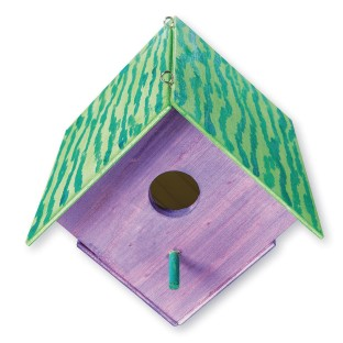 Unfinished Wood Birdhouse Unassembled Pack Of 12
