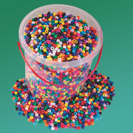 Buy pony bead bucket at s s worldwide for Bead craft ideas for kids