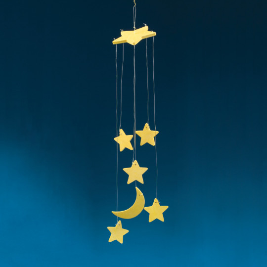Buy glow in the dark moon stars mobile craft kit at s s for Moon and stars crafts