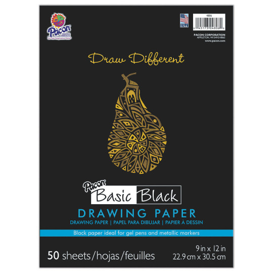 Buy pacon basic black drawing paper at s s worldwide for Buy blueprint paper
