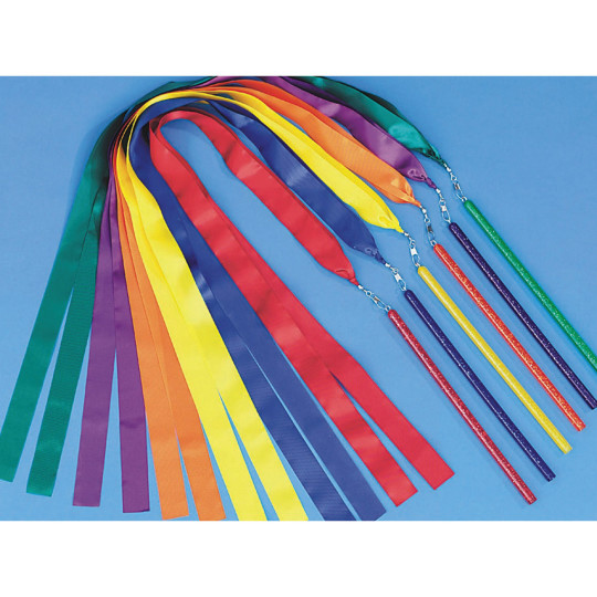 Buy spectrum ribbon wands 36 long at s s worldwide for Ribbon wands