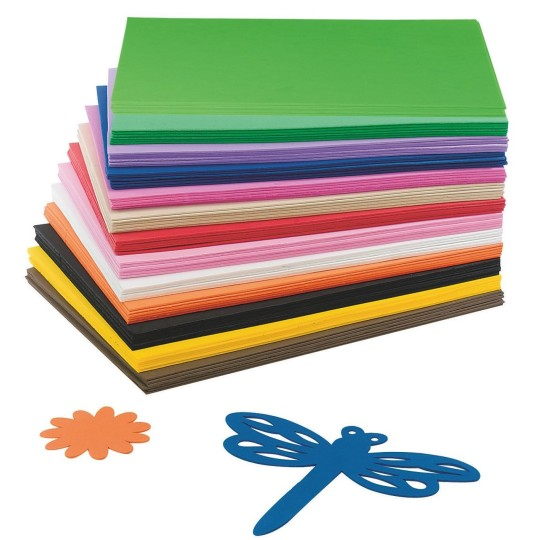 Buy eva foam sheet assortment at s s worldwide for Red craft foam sheets