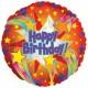 S&S Worldwide - Happy Birthday Red Meteor Mylar Balloons (pack of 10) Photo