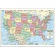 S&S Worldwide - USA Map (Laminated) Photo
