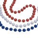 """S&S Worldwide - 33"""" Patriotic Bead Necklaces (pack of 36) Photo"""