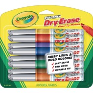 Crayola® Visi Max Dry-Erase Markers, Assorted Colors
