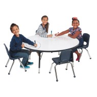 Round Dry Erase Activity Table, 48""