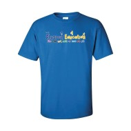 We Won't Quit Until Our Kids Are Fit T-Shirt, Royal Blue