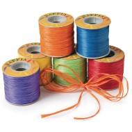 Raffia Ribbon Assortment,  (Pack of 6)