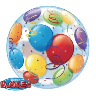 Qualatex® Bubble Balloon: Colorful Balloons, 22""