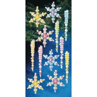 Snowflake and Icicle Beaded Ornament