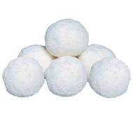 "Spectrum™ 4"" Fleece Balls, White"