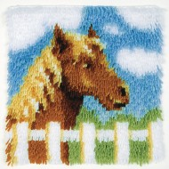 "Pony Latch Hook Kit, 12"" x 12"""